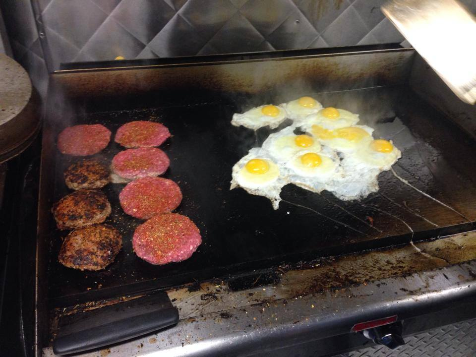 From Svante's Facebook page - our beef on their grill along with fried eggs