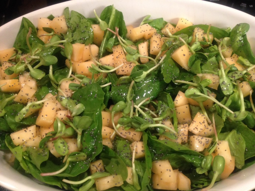 Spinach Salad with Sprouts