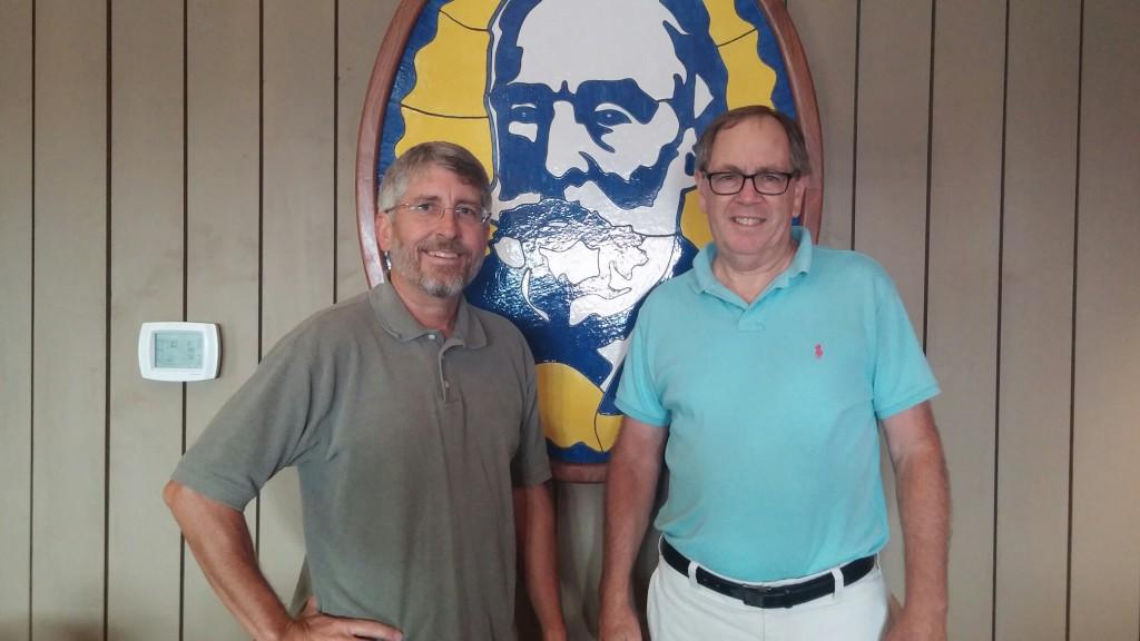 Blessing Falls' Mark (left) with Svantes owner Chris Swenson