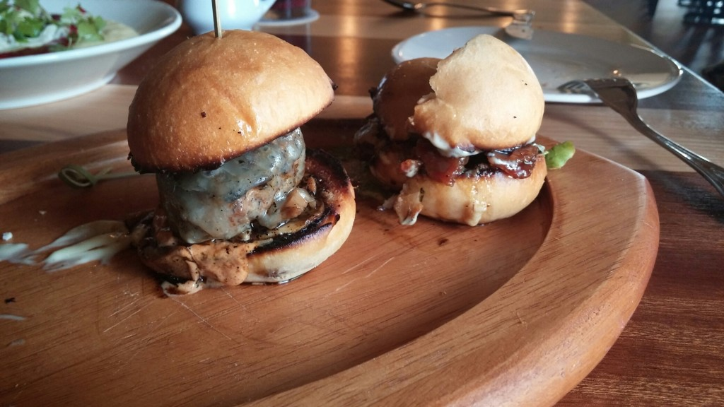 Sliders - great way to try 3 different burgers