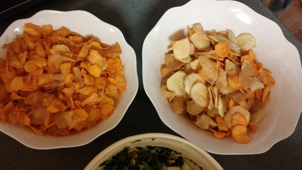 Chips from Blessing Falls' farm grown sweet potatoes
