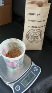 Weighing seeds for planting